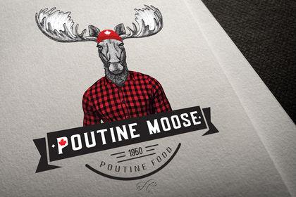 Création logo poutine moose