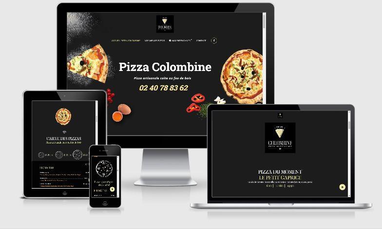 Création webdesign charte graphique pizza