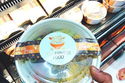 Création étiquette pour bol healthy sushi