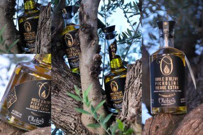 Création d'une gamme étiquette luxe huile d'olive