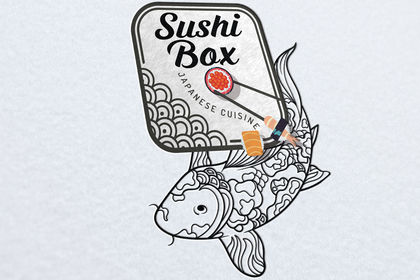 Création logo sushi box