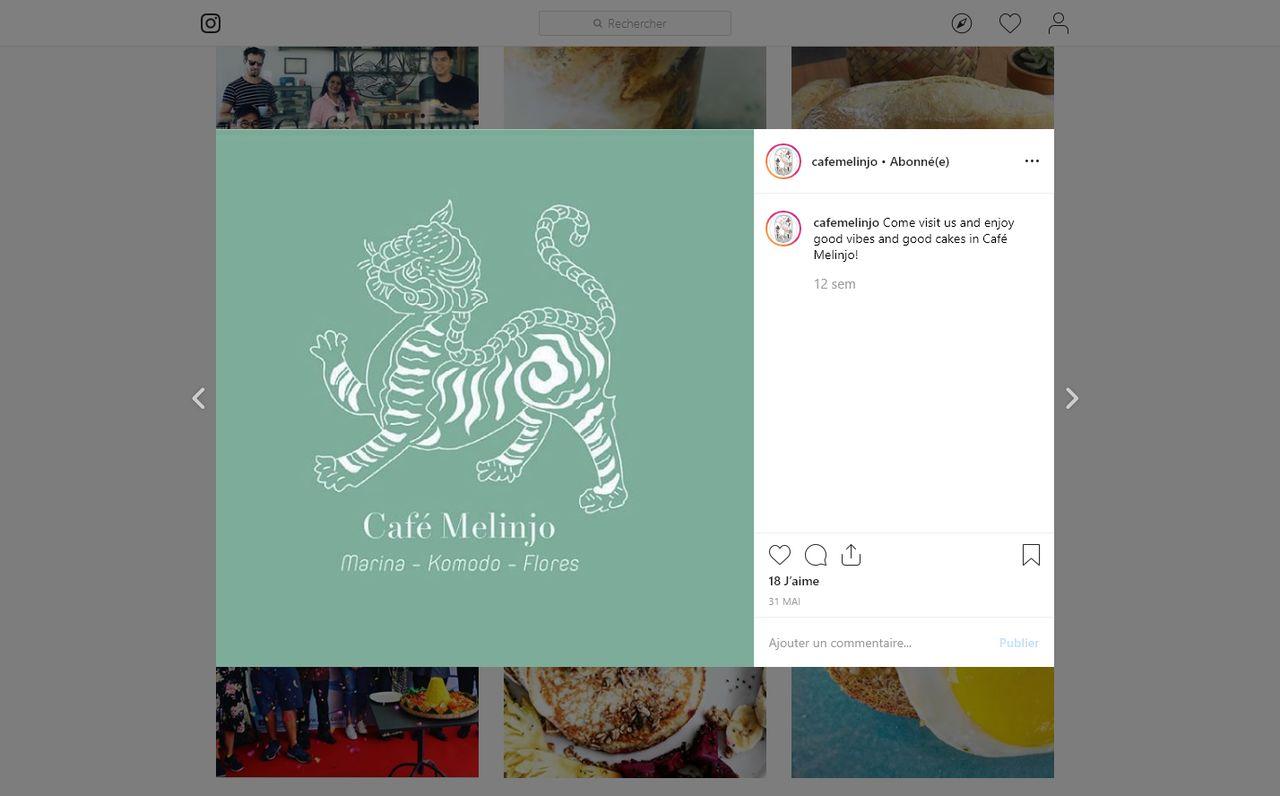 Décor vitrine café Indonésie île du komodo
