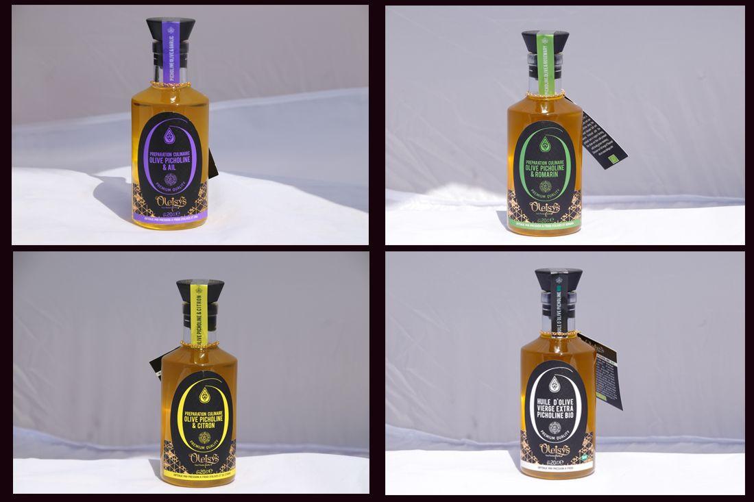 Création charte graphique étiquette huile olive