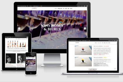 Site web vins & bières Carteron Saint-Tropez
