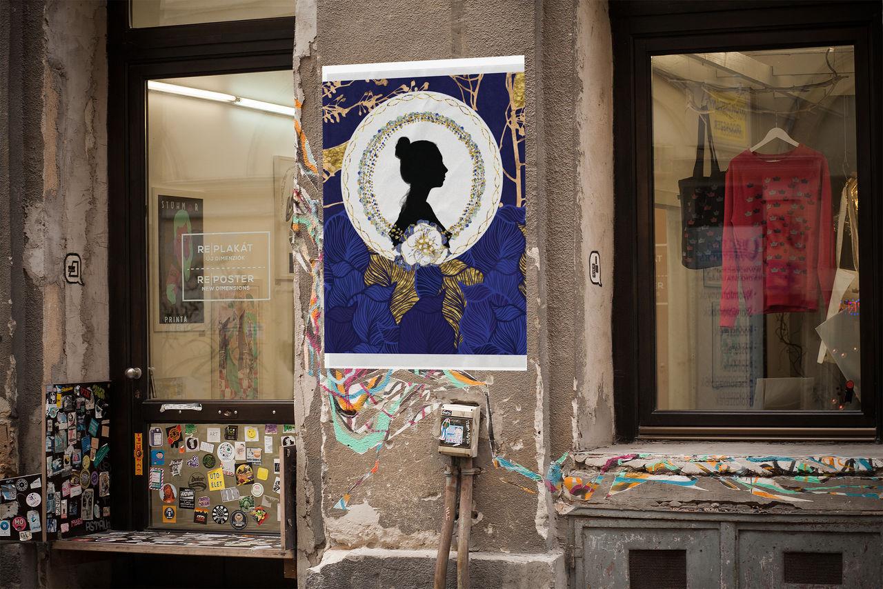Création d'une affiche Pour Vins Cassandre Pomerol