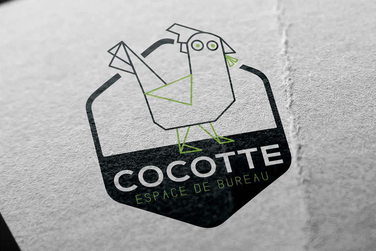Création logo espace coworking et bureaux, Paris