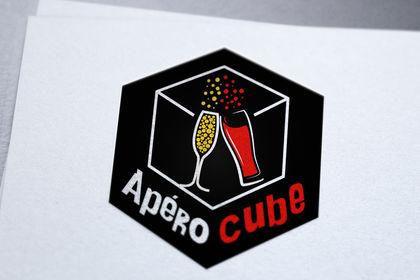 Création de logo pour apérocube, service livraison