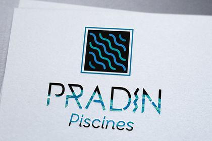 Création de logo pisciniste pradin