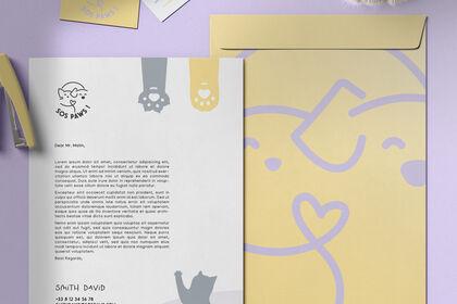 Identité visuelle complète de SOS PAWS!