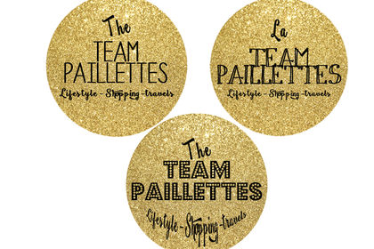 Logo badges glitter circles