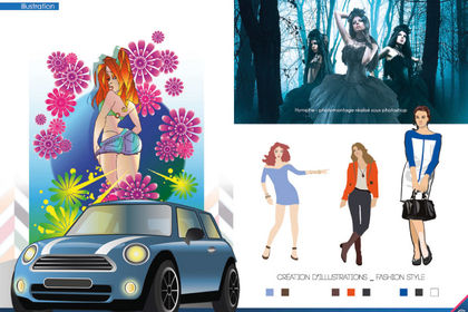 Illustrations fashion style
