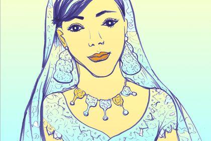 Dessins de scènes de Mariage: Events illustration