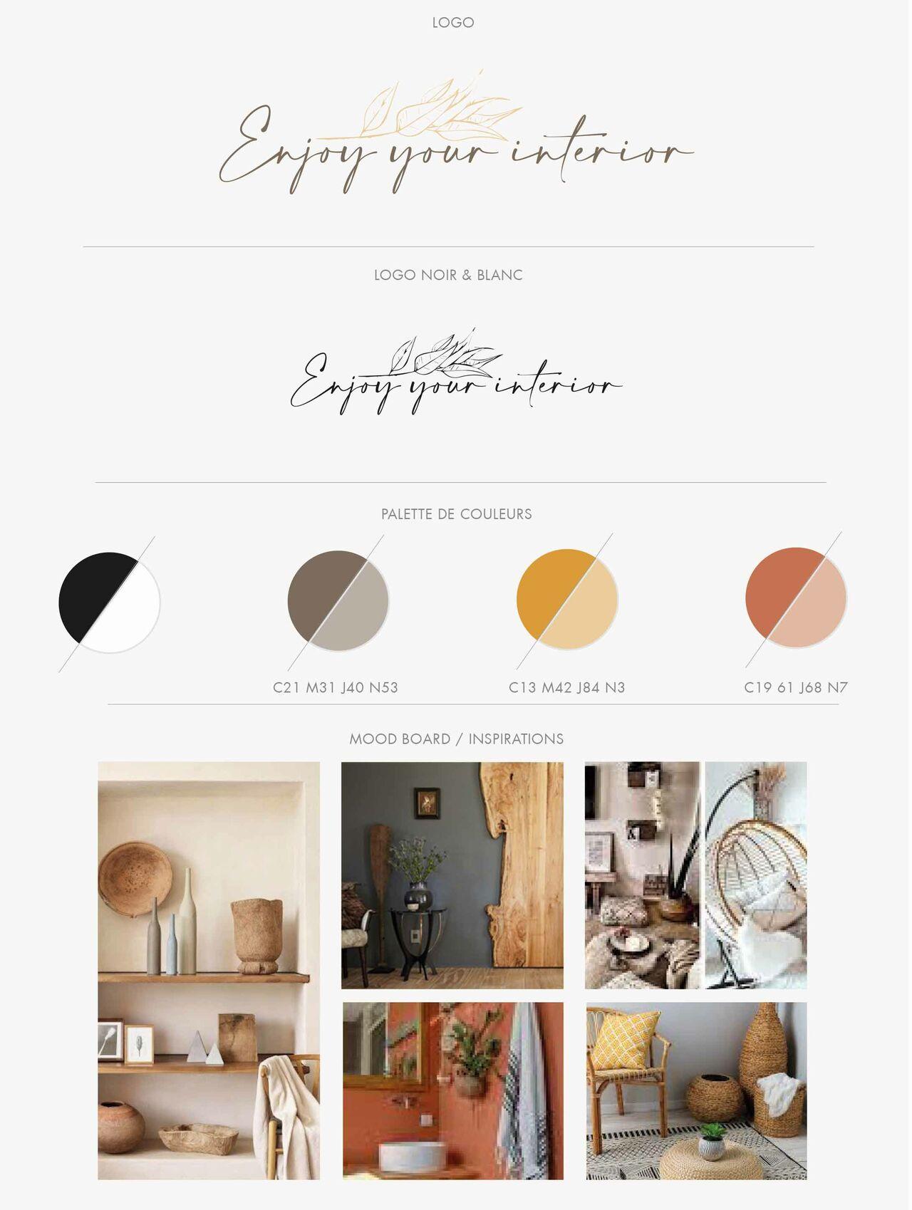 Charte graphique Enjoy your interior