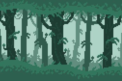 Fond jeux-vidéo pixelart