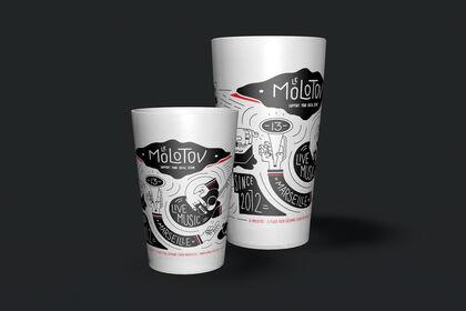 Gobelets illustrés - Le Molotov