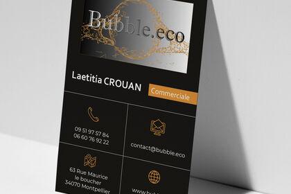 Cartes de visite Bubble.eco