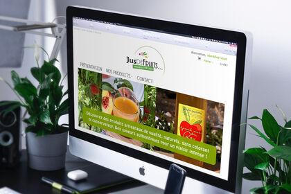 Design & site web  / Jus de Fruits Producteurs