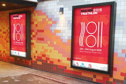 Affiche triathlon