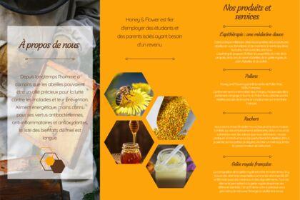 Brochure pour une boutique de miel