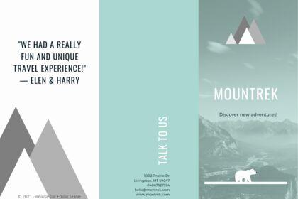 Brochure pour une association pour de la randonné