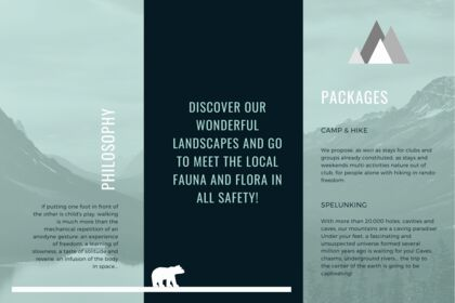 Brochure pour une association pour de la randonnée