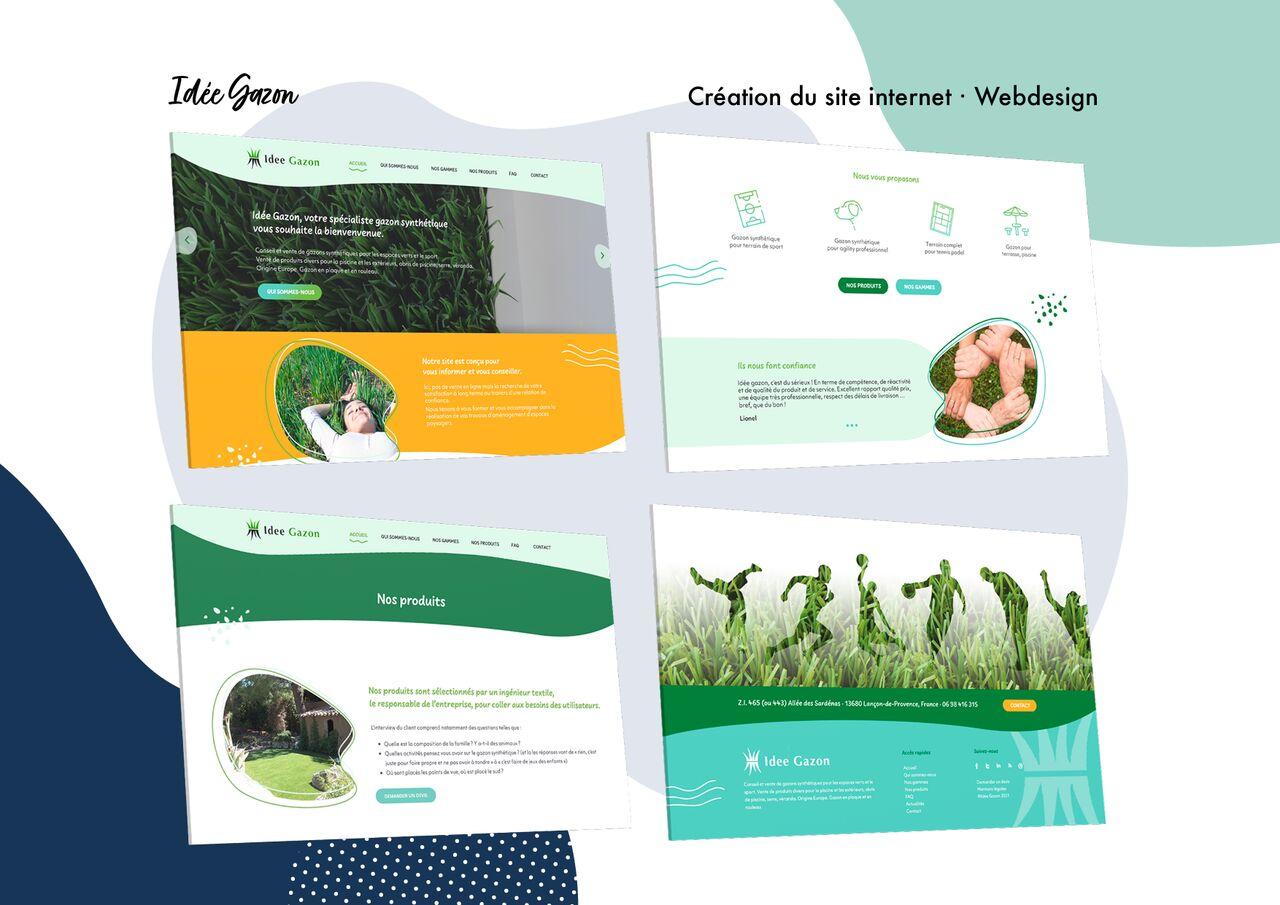 Idée Gazon - Webdesign