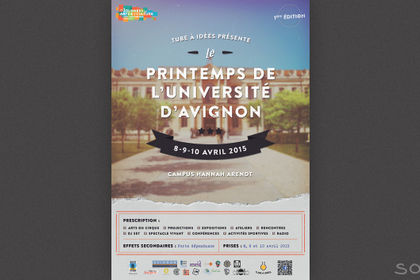 Affiche Printemps de l'Université d'Avignon