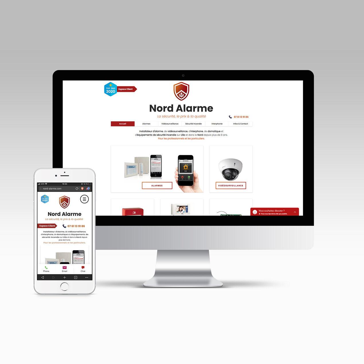 Site web vitrine Nord Alarme