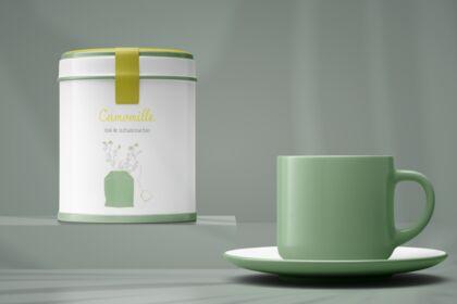 Logo Branding Boîte de thé bio made in France