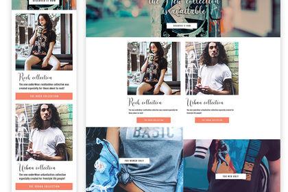 Template site boutique de vêtements