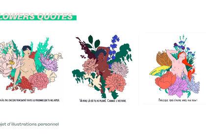 Projet personnel : Les fleurs de Janvier 🌻