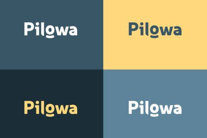 Logo pilowa v1 fonds de couleur