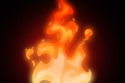 Dessin création feu