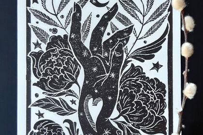 Linogravure, Main