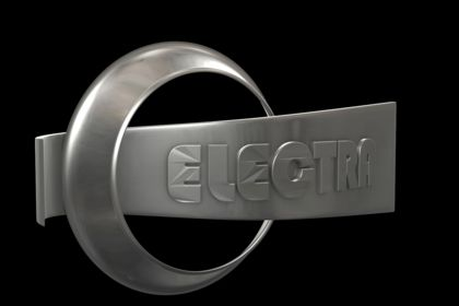 Logo 3D noir métal