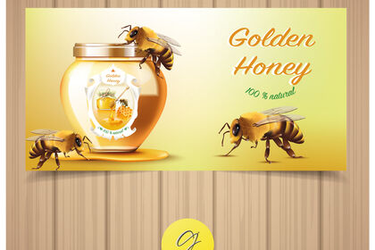 Bannière golden honey