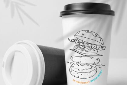 Illustration logo restaurant
