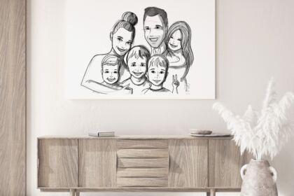 Illustration portrait de famille