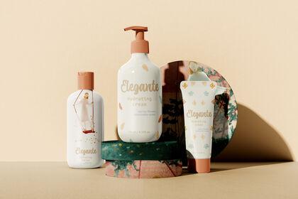 Illustration d'emballage cosmétique
