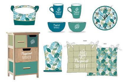 Collection tropicale / identité visuelle, textile