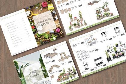 Catalogue jardin / mise en page et identité