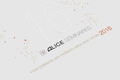 Carte de voeux Alice Séminaires