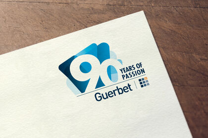 Logo 90 ans Guerbet