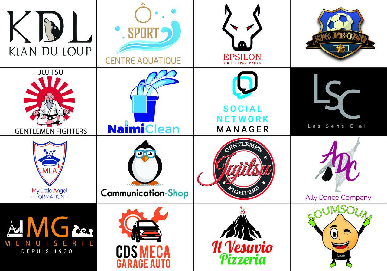 Panachage de logos effectuées par l'agence