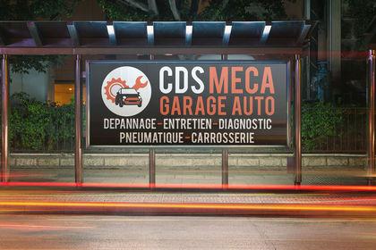 Panneau pour le garage CDS MECA