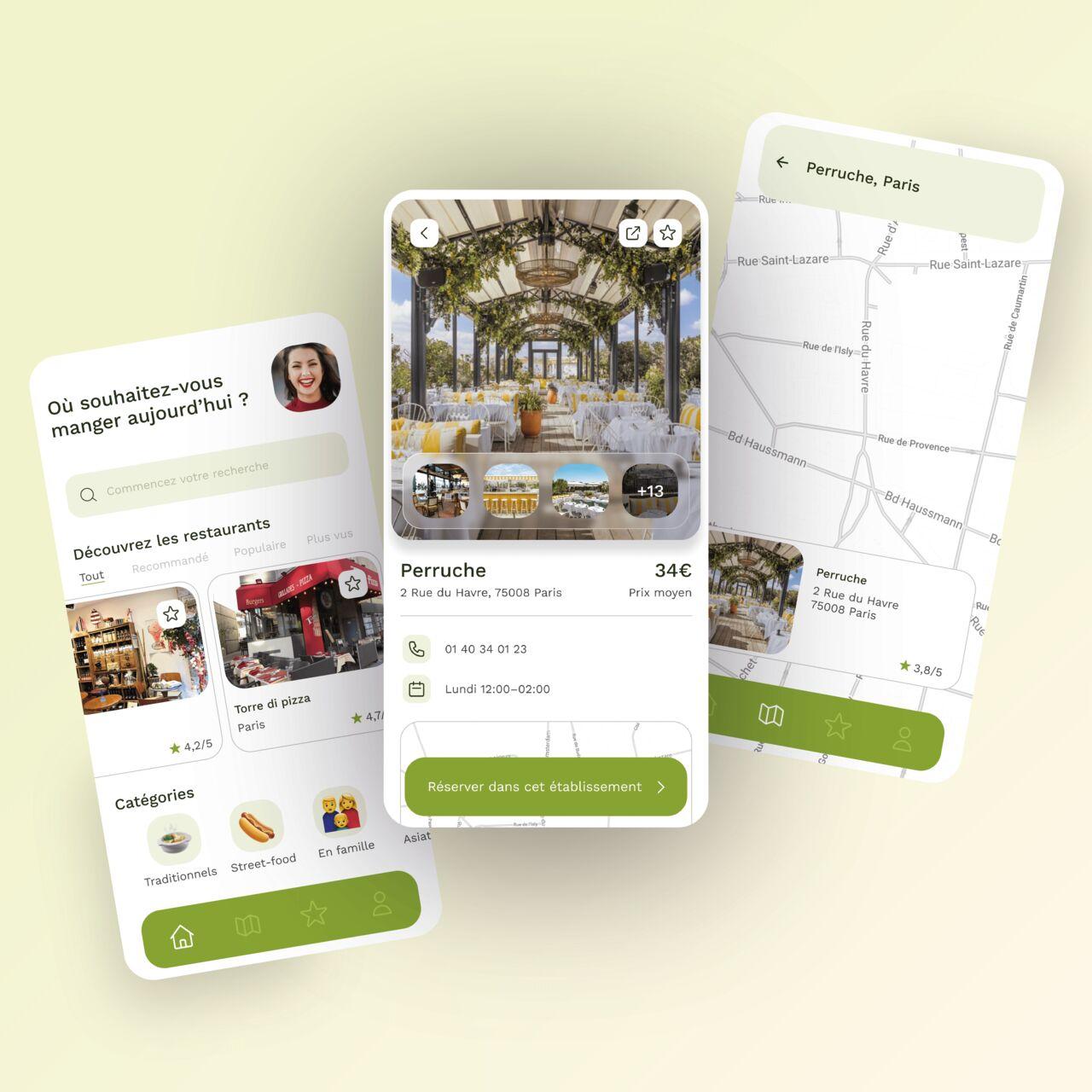 App de réservation de restaurant