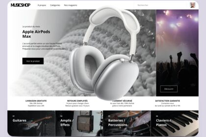 Site de vente d'articles musicaux