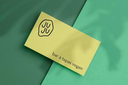 Juju - Cartes de visites - Bar à tapas vegan
