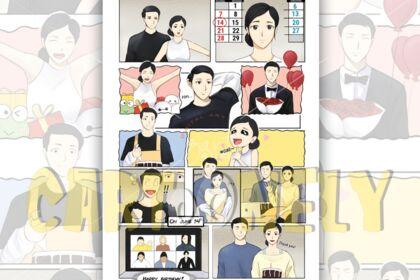 Page de manga d'un livre de 170 pages au total