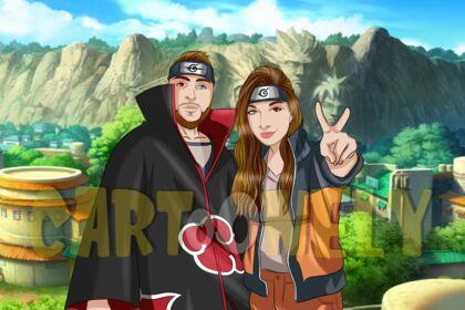 Réalisation d'un portrait Naruto personnalisé
